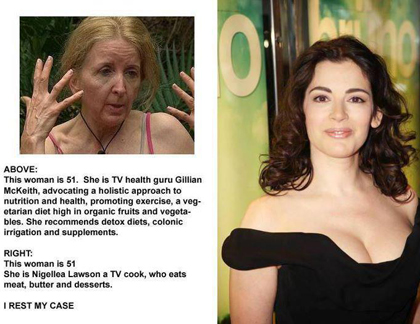 nigella lawson gillian mckeith comparison