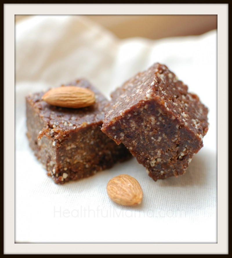 @HealthfulMama_Chocolate Almond Fudge Snack Bites