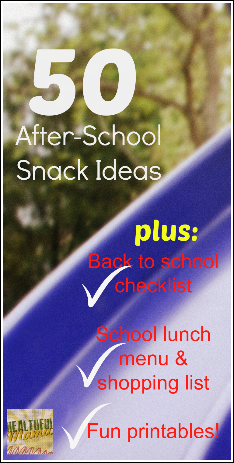 @HealthfulMama 50 Snack Ideas
