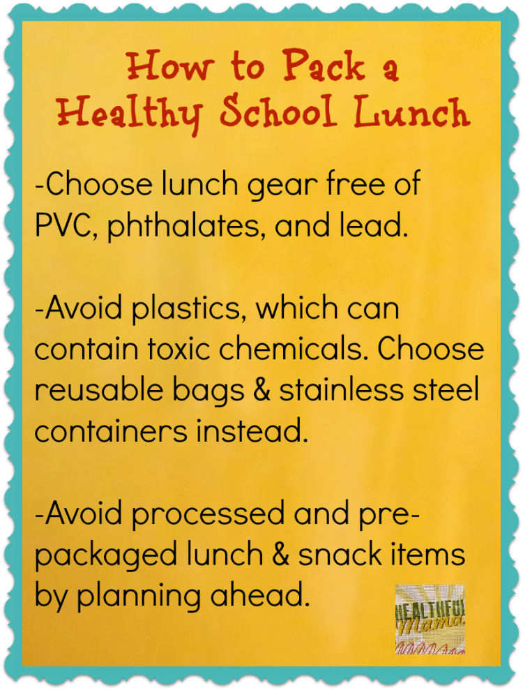 @HealthfulMama How to Pack a Healthy School Lunch